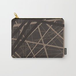 Abstract brown . Line . Carry-All Pouch