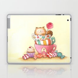 Cups, candy and a cat Laptop & iPad Skin