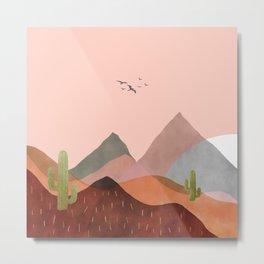 Mountains cactus Metal Print