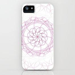 Lesbian Pride Spirograph iPhone Case