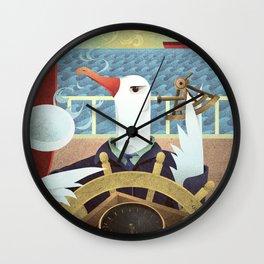 A-Z Animal, Albatross Quartermaster - Illustration Wall Clock