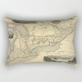 Map Of The Great Lakes 1851 Rectangular Pillow