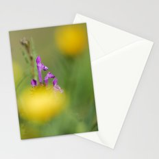 Purple, yellow and green bokeh Stationery Cards