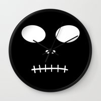 horror Wall Clocks featuring Horror by The Wellington Boot