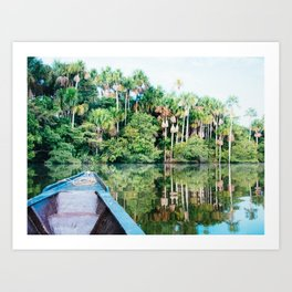 A Boat in the Amazon Rainforest Fine Art Print Art Print