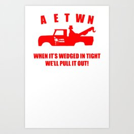 Camel Towing Funny T Shirt Adult Humor Rude Gift Tee Shirt Tow Truck Unisex Tee1redw b Art Print