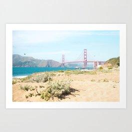 Golden Gate Bridge Beach Art Print