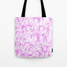 Pastel Ahegao Collage Tote Bag
