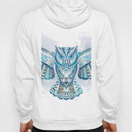 Blue Ethnic Owl Hoody