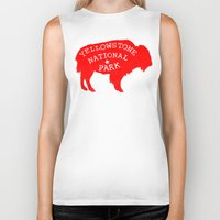 the national Biker Tanks featuring Yellowstone National Park  by Terry Fan