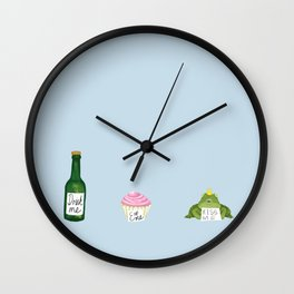 A Very Impatient Frog Prince Wall Clock