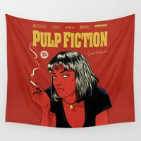 tarantino Wall Tapestries featuring P. F. by CranioDsgn