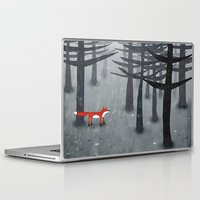 gray Laptop & iPad Skins featuring The Fox and the Forest by Nic Squirrell