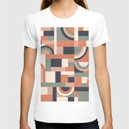 Earth Tones Blocks #society6 #pattern T-shirt