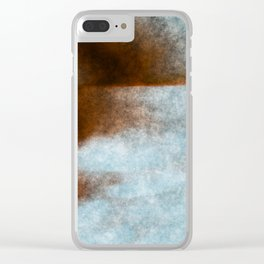 stained fantasy dark sunset Clear iPhone Case