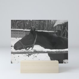 black 5 Mini Art Print