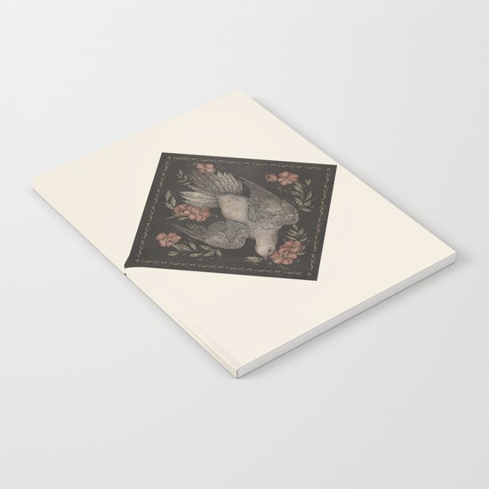 Dove and Flowers Notebook
