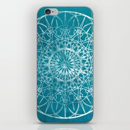 Fire Blossom - Teal iPhone Skin