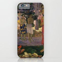 Paul Gauguin - Ia Orana Maria (Hail Mary) (1891) iPhone Case