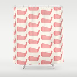 Golf Club Head Vintage Pattern (Beige/Pink) Shower Curtain