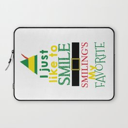 I just like to Smile - Buddy the Elf Laptop Sleeve