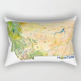 Montana Painted Map Rectangular Pillow