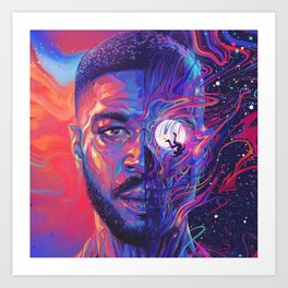 Man On The Moon III Poster Print Art Print