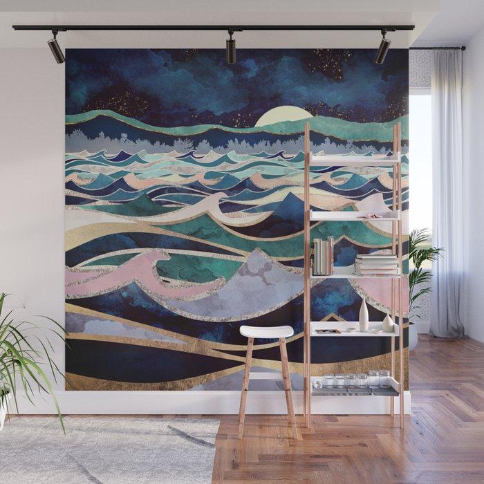 Moonlit Ocean Wall Mural