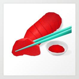 The intimate sashimi Art Print