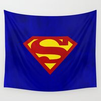 superman Wall Tapestries featuring Superman by Some_Designs
