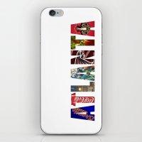 atlanta iPhone & iPod Skins featuring ATLANTA by Mental Activity