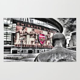 Thierry Henry Statue Emirates Stadium Art Rug