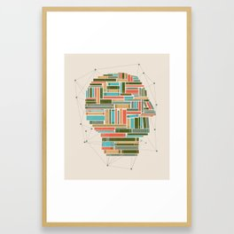 Socially Networked. Framed Art Print