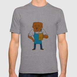 Bordeaux Dog Brewer Mug Mascot Cartoon T-shirt