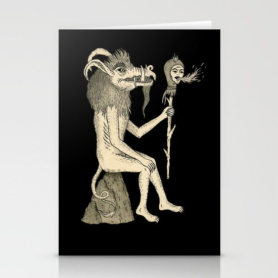 Creature Holding Sceptre Stationery Cards