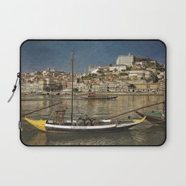 Moody Porto barges on the Douro Laptop Sleeve