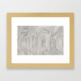 read it and weep Framed Art Print