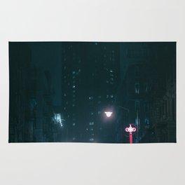 Night Life New York City (Color) Rug