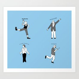 Chicken Dance The Night Alway  Art Print