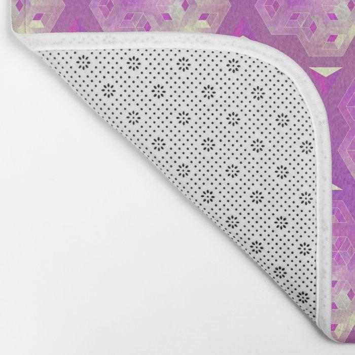 3D geometric shape Bath Mat