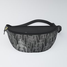 Crowd of Wooden Anatomy Drawing Life Model Dolls Fanny Pack