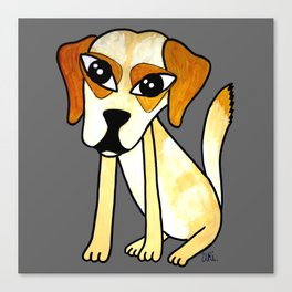 Yara, the clever dog Canvas Print