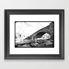 Burnt Bridge Framed Art Print