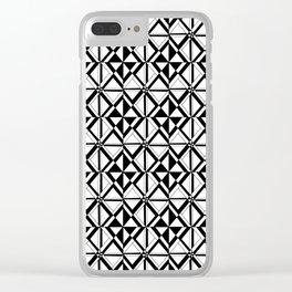 Symetric triangle 10 -vichy, gingham,strip,triangle,geometric, sober,tartan,mandala Clear iPhone Case