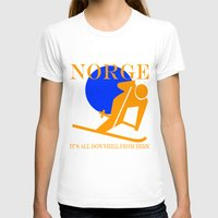 norway T-shirts featuring Norway by rita rose