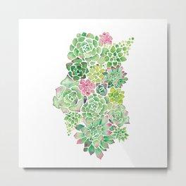 Succulent Garden Metal Print