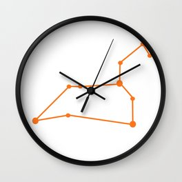 Leo (Orange & White) Wall Clock