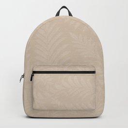 Pantone Hazelnut Fancy Leaves Scroll Damask Pattern Backpack