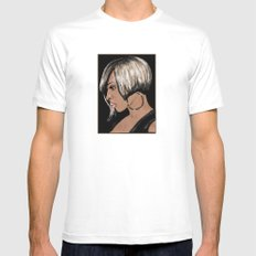 MARY J. SMALL White Mens Fitted Tee