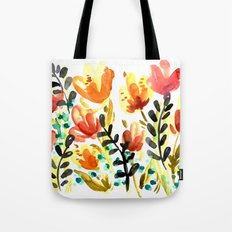 Watercolor Wildflowers Tote Bag